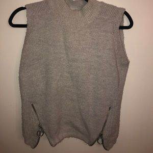 Sweater tank with zipper detail